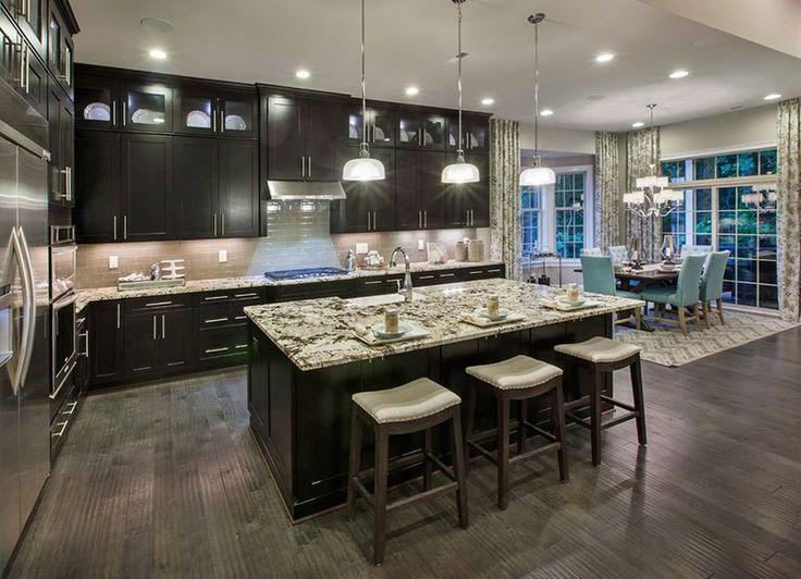 espresso kitchen cabinets. Alaska white granite countertops with espresso cabinets Best 25  Espresso kitchen ideas on Pinterest Dark