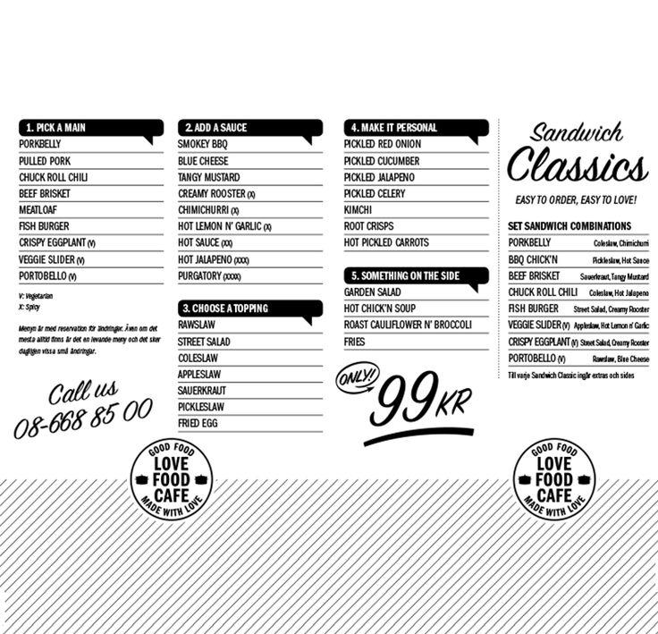Love Food Café, Make your own sandwich! Hornsgatan 66