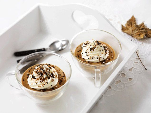 Cappuccino-Roomdessert