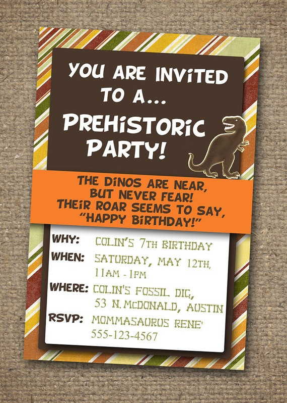 23 best Dinosaur Party images – Dinosaur Party Invitation Wording