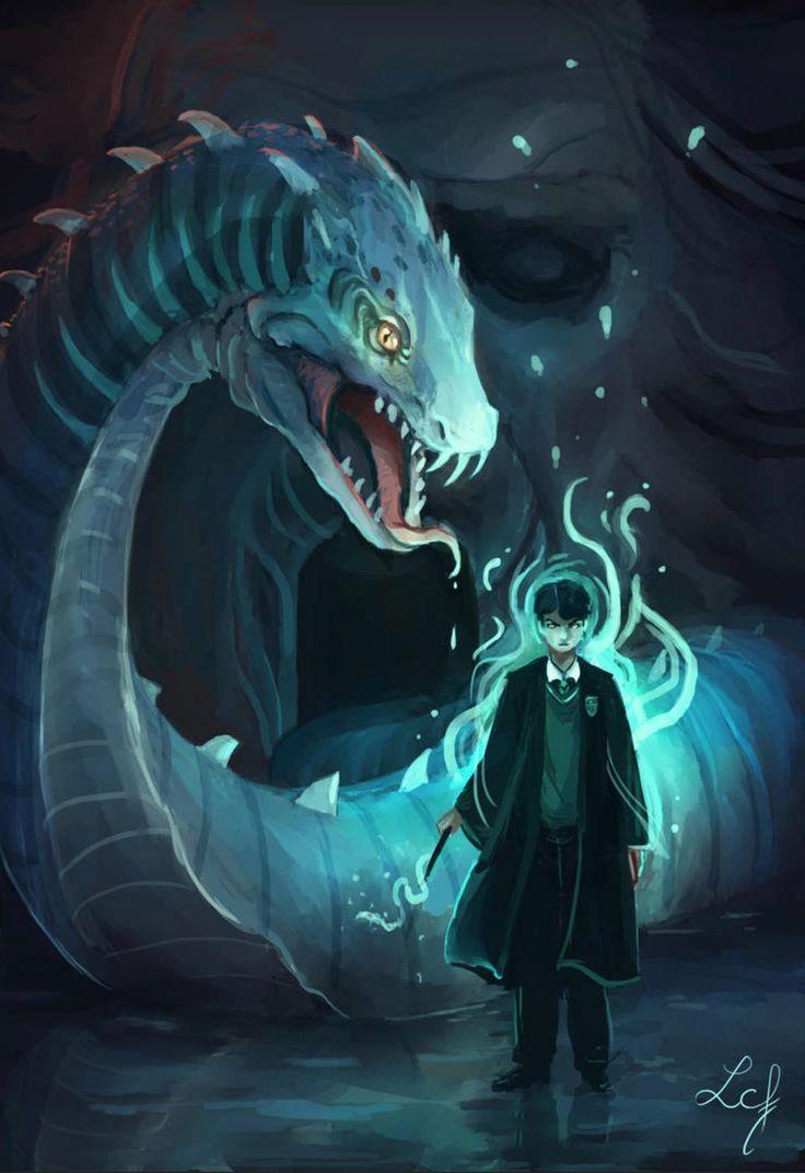 Camille Fourcade Ludmila Cera Foce Hp Lord Voldemort Basilisk Harry Potter Harry Potter Background Harry Potter Anime