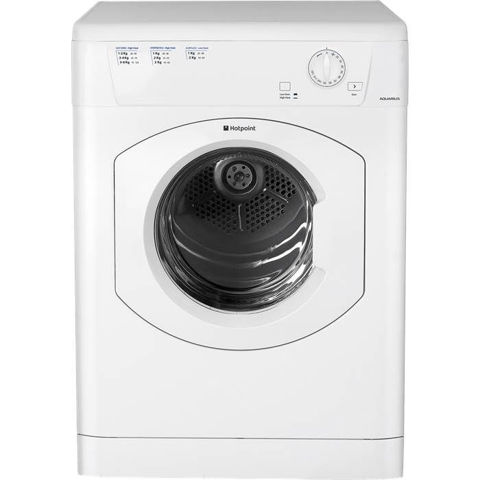 Hotpoint Aquarius TVHM80CP 8kg Vented Tumble Dryer in White