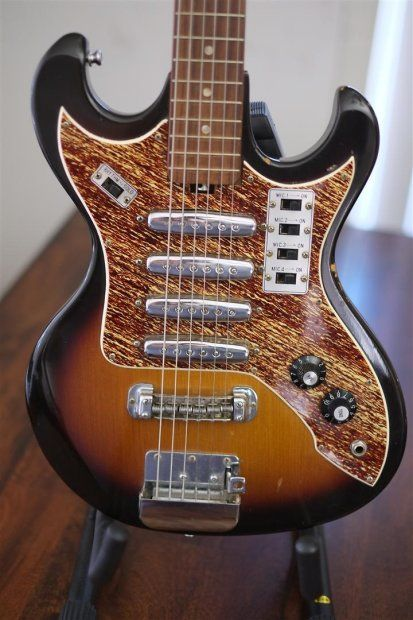 Teisco 4 Rail Pickups 1960's Dark Sunburst 4 rail pickups final price reduction! | Reverb