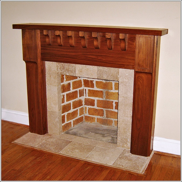 63 best Art and Craft style fireplaces images on Pinterest
