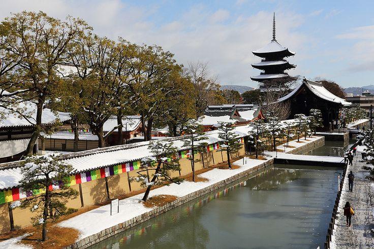 Snowy day in Kyoto