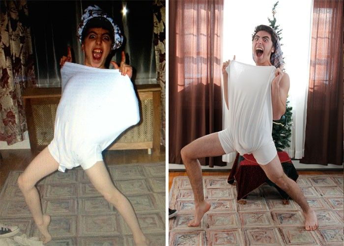 This Is What Happens When Adults Recreate Their Funniest Childhood Pictures. [MOBILE STORY]