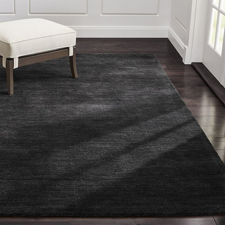 Baxter Carbon Wool Rug | Crate and Barrel