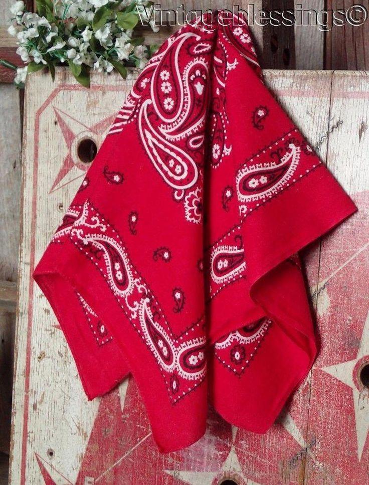 Vintage cowboy motifs handkerchief