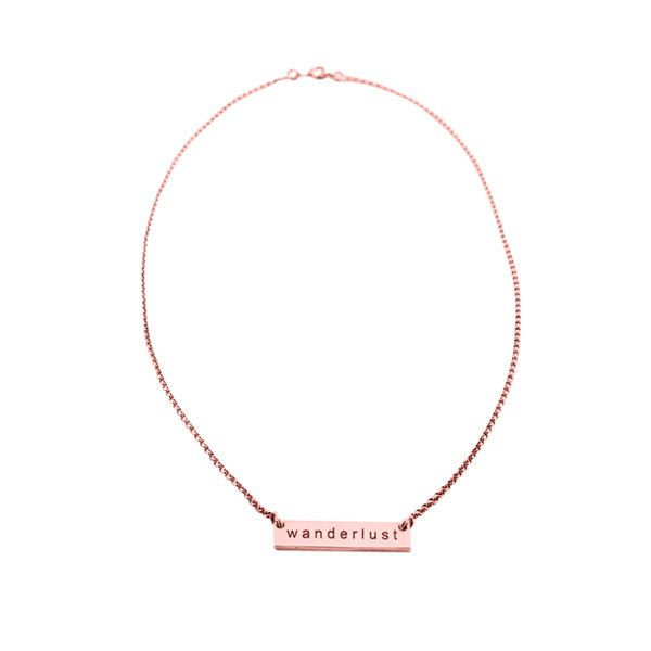 fine chain necklace | rose gold plated | wanderlust