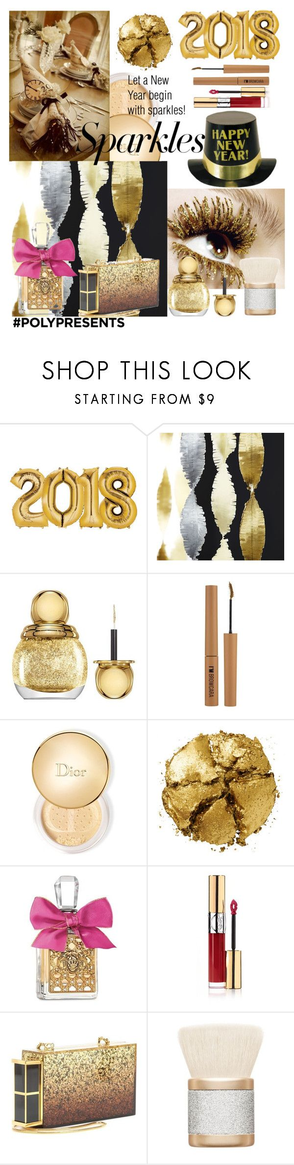 """#PolyPresents: Sparkly Beauty"" by thefakecake ❤ liked on Polyvore featuring beauty, Crate and Barrel, Christian Dior, Forever 21, Pat McGrath, Juicy Couture, Yves Saint Laurent, Tom Ford, MAC Cosmetics and contestentry"
