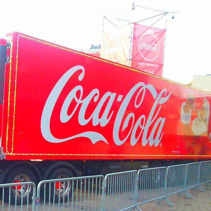 Świąteczna ciężarówka Coca-Coli w Katowicach. | Katowice (Silesia Voivodeship), Poland