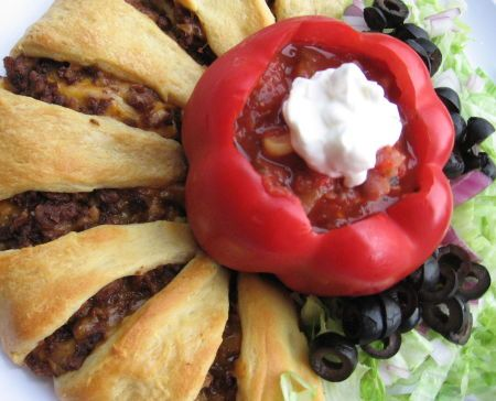 Vegetarian Pampered Chef Taco Ring