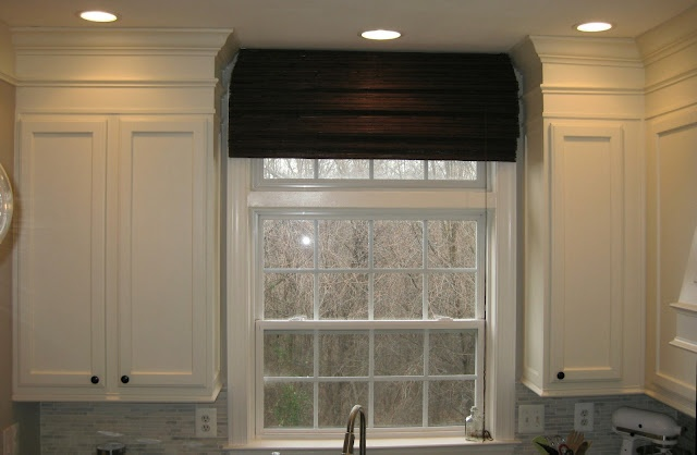 How to close off the space above kitchen cabinets and add moulding to finish it off.