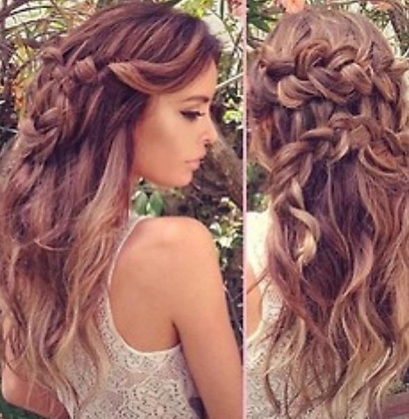 super cute boho braid with beach waves hair pinterest. Black Bedroom Furniture Sets. Home Design Ideas