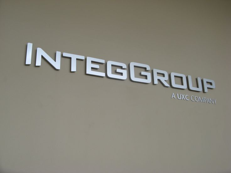 Intergroup #CSI #3D #lettering #custom #sign #CAD #extrusion #signage #name #letter #word #corporate #school #recognition #identity #design #branding