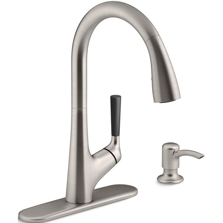 KOHLER Malleco Vibrant Stainless 1-Handle Pull-Down Kitchen Faucet | Lowe's Canada