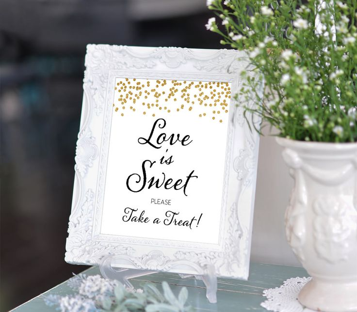 Printable Wedding Sign Confetti Candy Bar Love is Sweet Take A Treat 8x10 Gold Bar Sign DIY Wedding poster Digital INSTANT DOWNLOAD 300dpi by DreamPrintable on Etsy #wedding #instant #download #printable #image #graphic #digital #reception_sign #PDF #Template #wedding_ceremony #wedding_sign #events_design #wedding_printable #wedding_design #Calligraphy #Sign #events