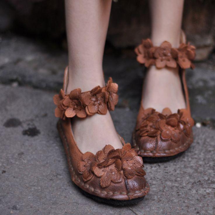 Купить Artmu сладкий цветок ручной работы из натуральной кожи плоским мягкая подошва старинные мокасины одного женская обувьи другие товары категории Обувь на плоской подошве и кожаные ботинки тренерав магазине FOR YOUNGER STOREнаAliExpress. кожаный лейбл и гидроизоляция кожаной обуви