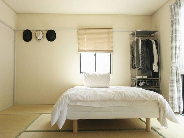 高さが低く、シンプルなので和室においても違和感がありません。和室だから…とベッドを諦めていた方、脚付きマットレスなら大丈夫ですよ◎