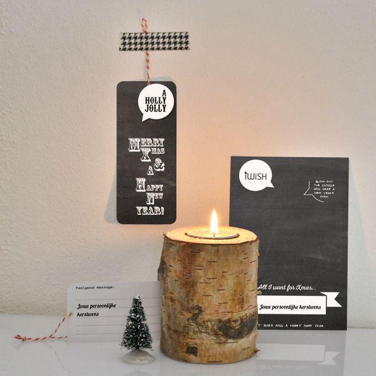 A Holly Jolly schoolbord kerst-wenskaartje met wenslichtje http://www.wannafeelgood.nl/a-38935995/kerst/a-holly-jolly/