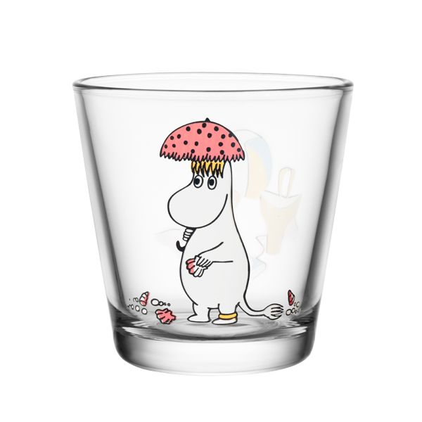 Moomin glass called Snorkmaiden in the sun.