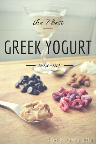 THE 7 BEST MIX-INS FOR GREEK YOGURT - Mix-ins not necessarily low in calories but some good ideas which can be tailor made to fit calorie count