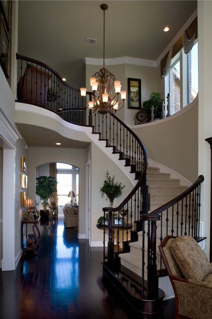 need to knock down that wall and open up the banister. would competely change the feel of our home!