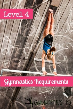 These are the new level 4 gymnastics requirements starting August 2013. Level 4 is a compulsory level so each gymnast competes the same routine. These are the skills that make up the new compulsor...