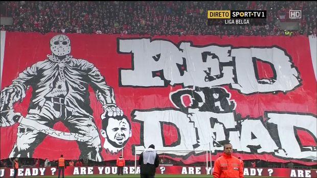 tifo anti Defour Standard Liège, t'as pas honte judi
