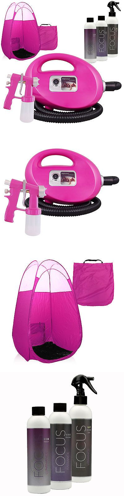 Airbrush Tanning Kits: Pink Fascination Fx Spray Tan Kit With Tanning Solutions And Pink Tent -> BUY IT NOW ONLY: $219 on eBay!