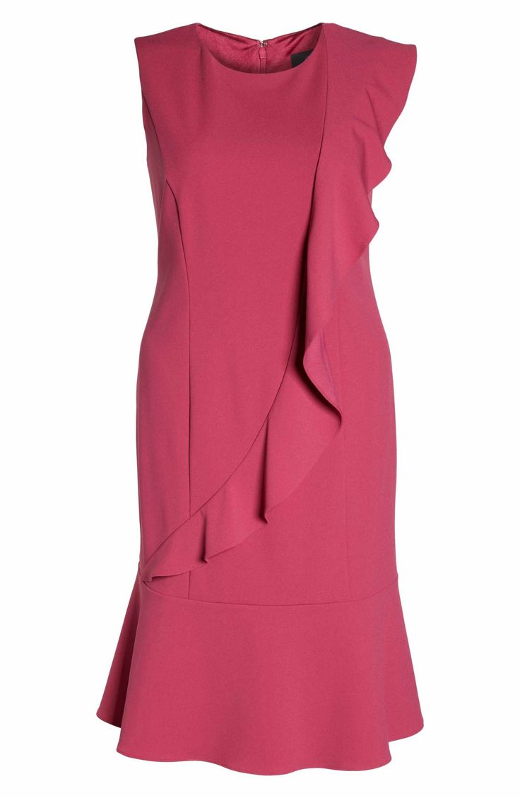 Main Image - Adrianna Papell Knit Crepe Drop Waist Dress (Plus Size)