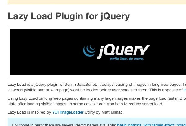 Lazy Load Plugin for jQuery #jquery #lazy #load #image #script #javascript