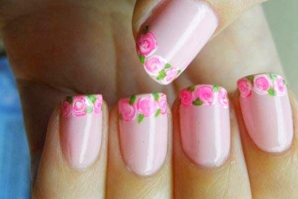 uñas rosas