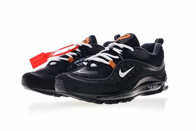 15cbbc146fa Cheap Supreme x Nike Air Max 98 Black 844694 001 BLACK-VARSITY RED ...