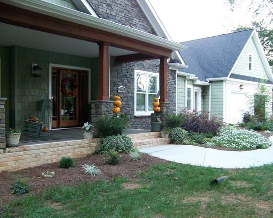 1000 images about porch on pinterest front porch for Craftsman landscape design ideas