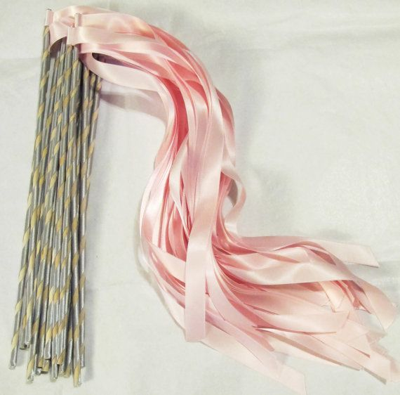 Enchanted Wedding Ribbon Wands 50 Pack IN YOUR by LivingAFairytale