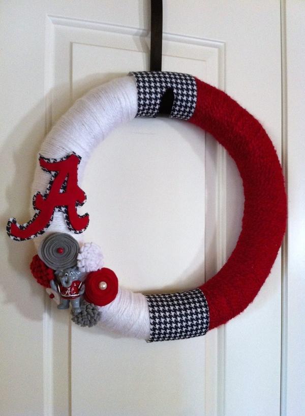 University of Alabama Football Wreath