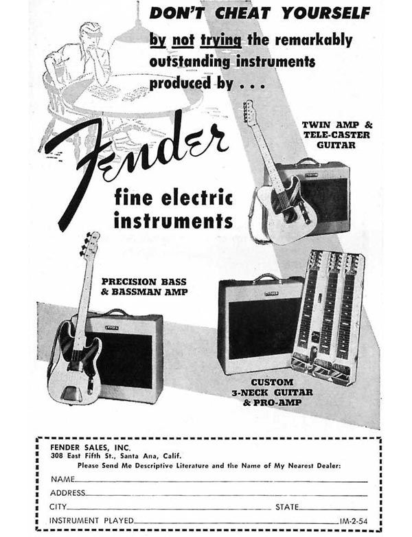 Vintage Fender ad.