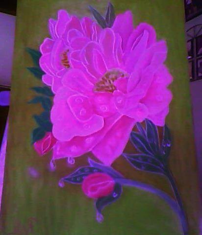 rosadas delicadeza    oleo sobre tela