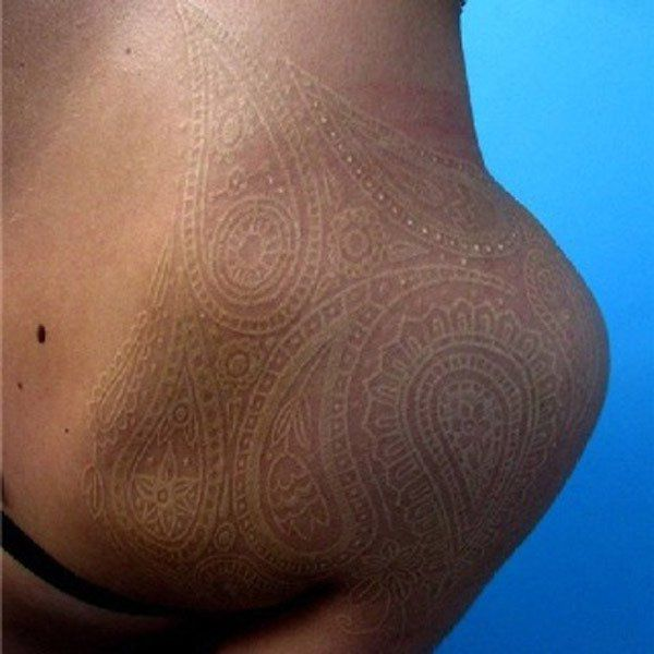White Lace Tattoo on Back - 45+ Lace Tattoos for Women | Art and Design
