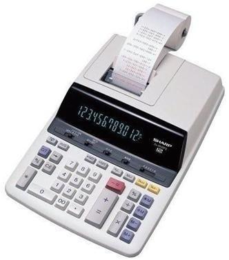 CALCULADORA SHARP EL-2630-PITI.   É definitivamente a solução corporativa em matéria de calculadora eletrônica. Destaque especial para a função cálculo de tempo, indispensável para cálculo da folha de pagamento  A calculadora Sharp possui display grande de fácil visualização. Teclas grandes que indica e imprime o número de vezes que as teclas que foram acionadas. Display de cristal líquido fluorescente com pontuação de 03 digitos. Possui função para calcular impostos.