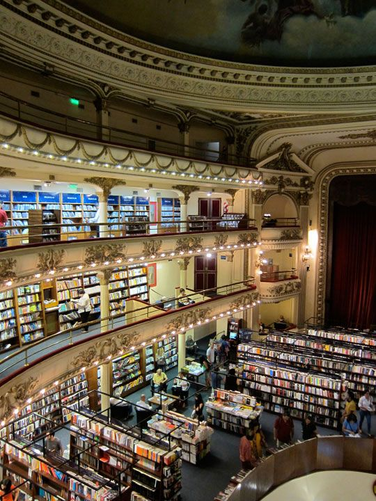 El Ateneo Grand Splendid in Buenos Aires is on the list of most visited bookstores in the world.