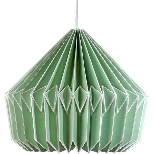 wild u0026 wolf caspian paper lamp shade swedish green featuring polyvore home lighting