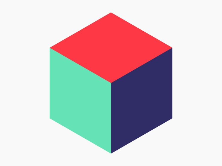 Rotating Cube & Triangles Animation #GIF