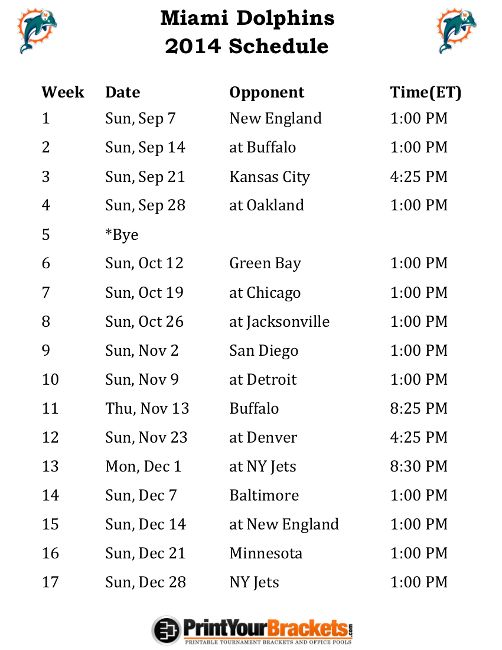 NFL Printable Weekly Schedule | Printable Detroit Lions Football Schedule