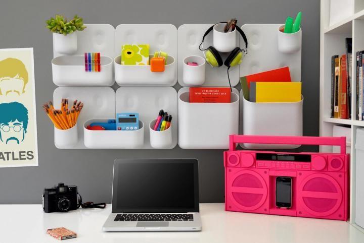 Me encanta a explosión de color para un escritorio juvenil