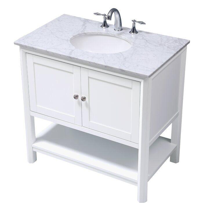 Rosecliff Heights Rhiannon 36 Single Bathroom Vanity Set Wayfair Bathroom Vanity Contemporary Bathroom Vanity Single Bathroom Vanity