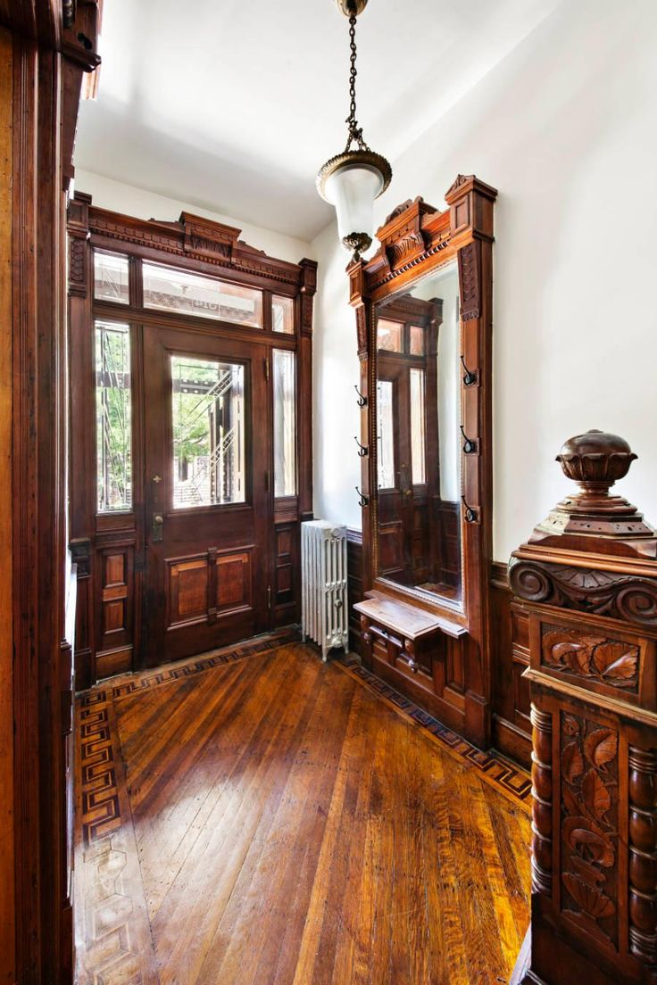 Victorian Foyer Wallpaper : Best park slope brownstone images on pinterest