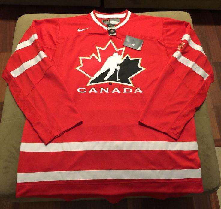 Nike Team Canada IIHF 100th Anniversary Crosby Hockey Jersey Size L 657343-657 #Nike