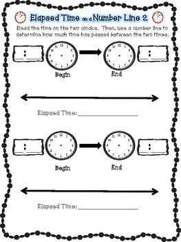 Number Line Worksheets time number line worksheets : 17 Best images about Math: Elapsed Time on Pinterest | 3rd grade ...